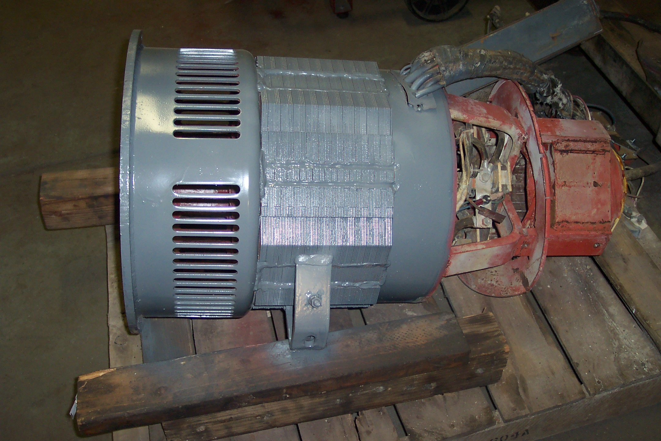 Stator Repair Bw Parts And Equipment Lincoln Sa 200 Welding Machines Sa250 Side View After